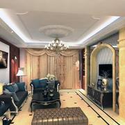 80平米小户型欧式风格客厅吊顶装修效果图