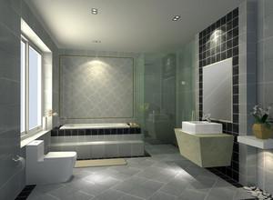 90平单身公寓现代简约卫生间设计图
