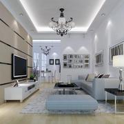 现代都市98平米室内客厅装修设计图