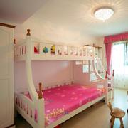 家居粉色儿童房高低床