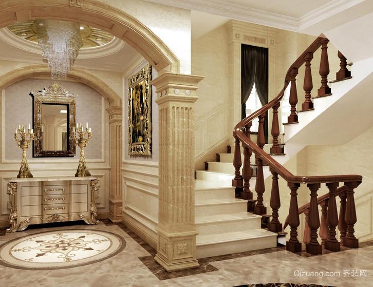 豪华欧式别墅室内楼梯装修设计效果图