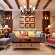 室内沙发背景墙展示