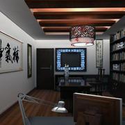 80平米小户型中式风格书房装修效果图实例