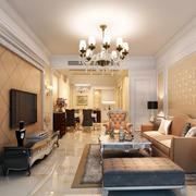 2016简欧风格两居室客厅家具装修效果图