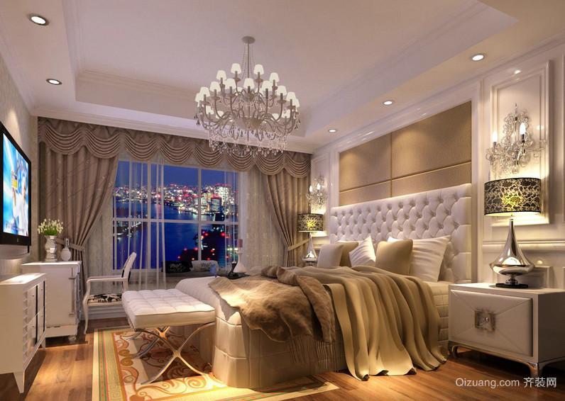 温暖舒心的大卧室简欧家具装修效果图