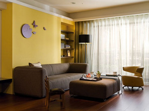 三居室简约混搭120平米房子装修效果图