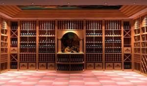 爱酒之人的城堡式别墅酒窖设计效果图