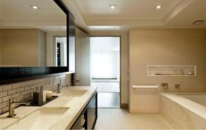 2016别墅型欧式风格洗手间背景墙装修效果图