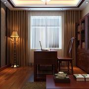 中式书房书柜装饰