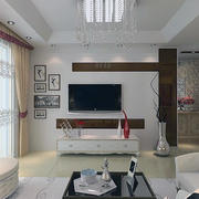 2016欧式单身汉公寓客厅背景墙装修效果图