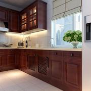 中式厨房实木橱柜欣赏