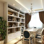 三口之家:简欧风格餐厅家具装修效果图