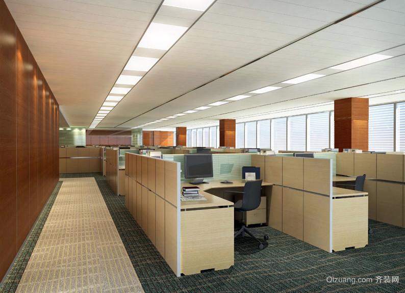 实用简约办公室隔断办公桌效果图