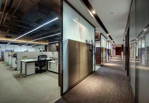2016现代办公室简约玻璃隔断效果图