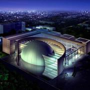博物馆夜景展示