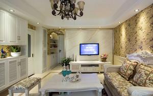 88平米简欧田园两居室室内装潢设计