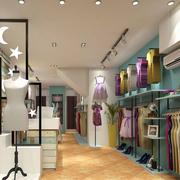 60平米现代时尚服装店装修设计效果图