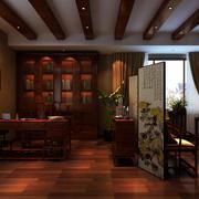 中式古典开放式书房设计