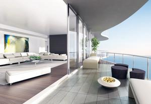 100平米大户型现代家庭阳台装修效果图实例