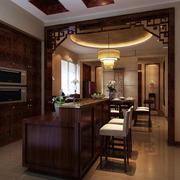 中式厨房吧台展示