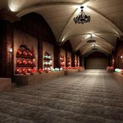 时尚别致的大型酒窖