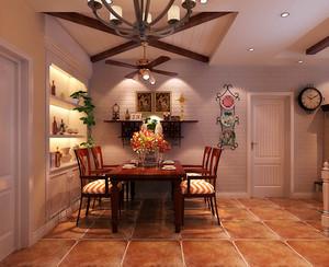 绝美田园风两室一厅室内装潢设计图