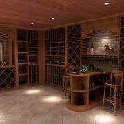 现代化的酒窖展示