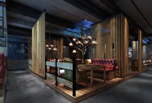2016新中式风格火锅店装修设计图