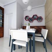 纯白色调桌椅设计