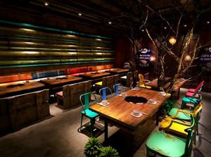 218平米火锅店东南亚风格装修设计图