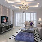 素雅单身公寓小客厅简欧家具装修效果图