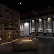 复古风格博物馆室内