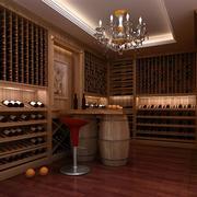 酒窖实木酒柜展示