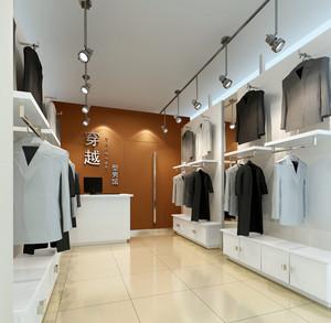 简约型男小型服装店装修设计效果图