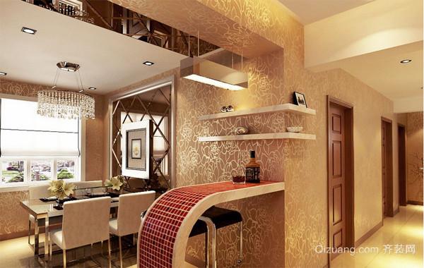创意独特的大户型欧式房子吧台装修效果图