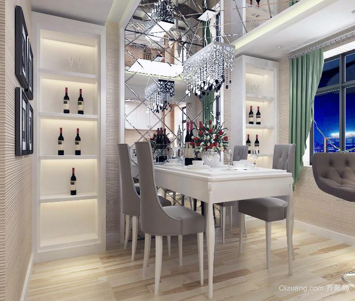 大户型欧式餐厅背景墙室内装修效果图大全