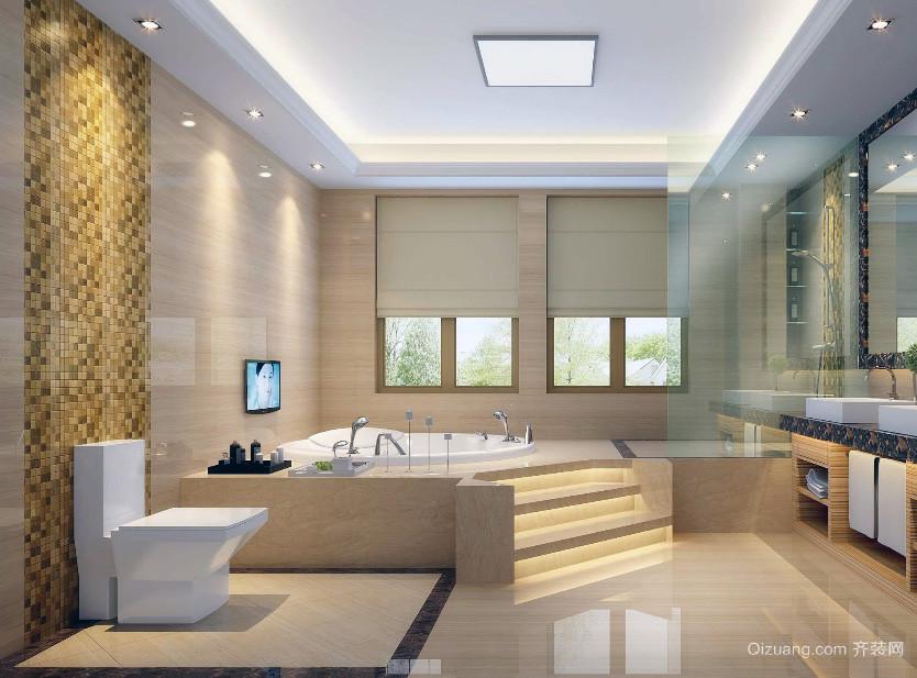 小户型现代时尚的欧式卫生间背景墙装修效果图