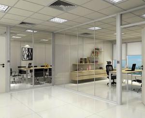 2016明亮宽敞的办公室隔断效果图