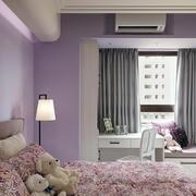 室内紫色小卧室欣赏