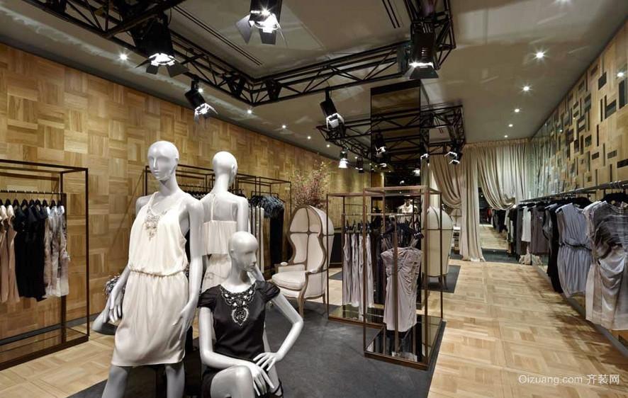 轻复古风格大型服装店装修设计效果图