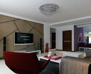 2016大户型欧式风格硅藻泥电视背景墙装修效果图