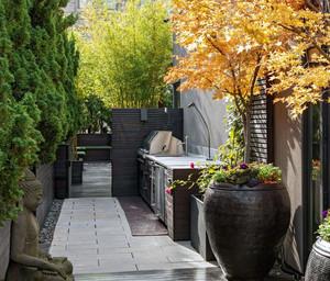 2016大户型欧式风格入户花园背景墙装修效果图