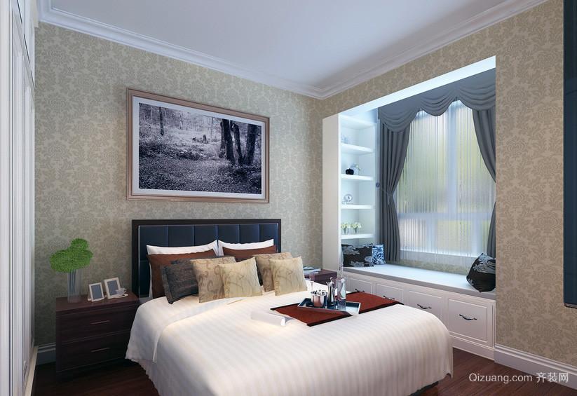 2016小户型欧式风格卧室窗帘装修效果图