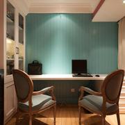 120平米书桌背景墙欣赏