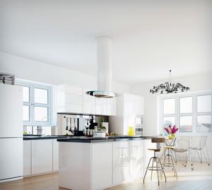 2016公寓式住宅欧式厨房吊顶装修效果图鉴赏