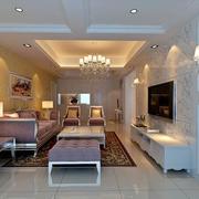 136平米新房简欧客厅家具装修效果图