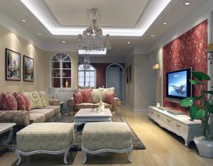 2016大户型现代简约楼房室内背景墙装修效果图