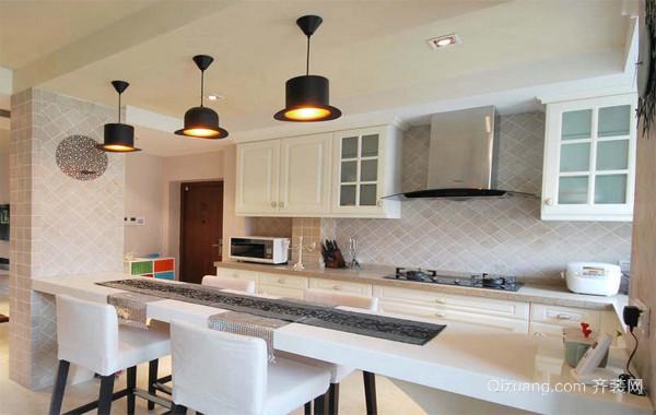 大户型欧式风格现代开放式厨房装修效果图鉴赏
