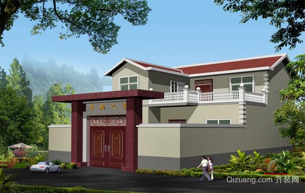 2016经典的现代农村别墅外观设计效果图