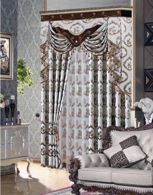 2016大户型欧式风格室内窗帘装修效果图